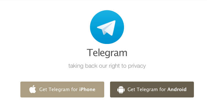 Telegram para Android e iPhone